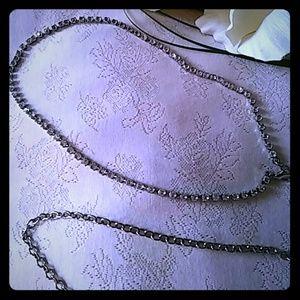 Vintage Rhinestone Chain Belt